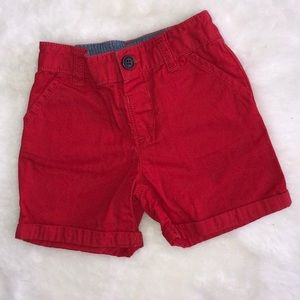 Gymboree 6-12 month red shorts